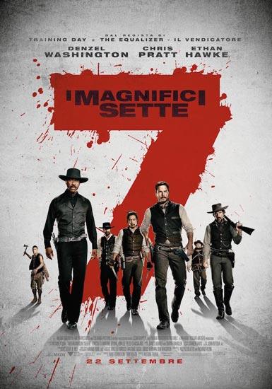 Il poster italiano del film I Magnifici 7
