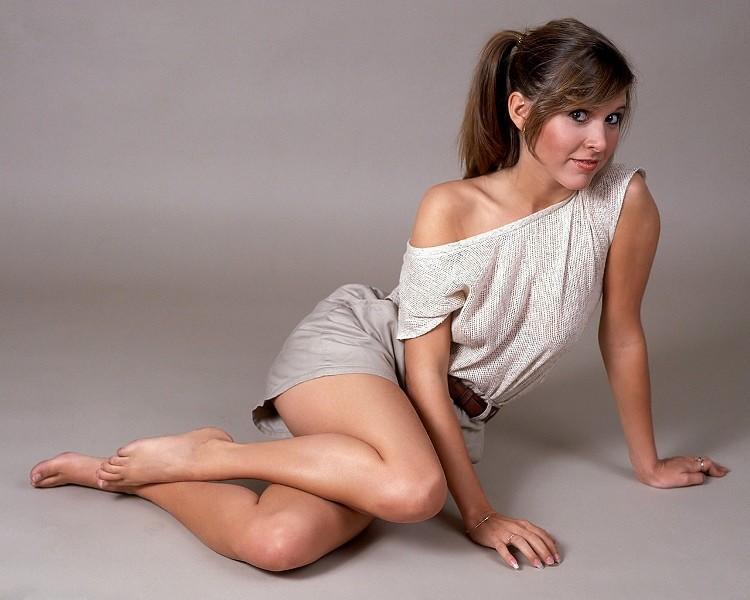 Carrie Fisher in posa durante un servizio fotografico