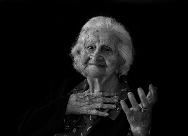 Lucrezia Furceri, anni 107 - Foto di Katja Snozzi