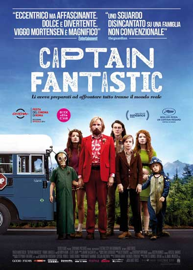 Il poster italiano del film Captain Fantastic