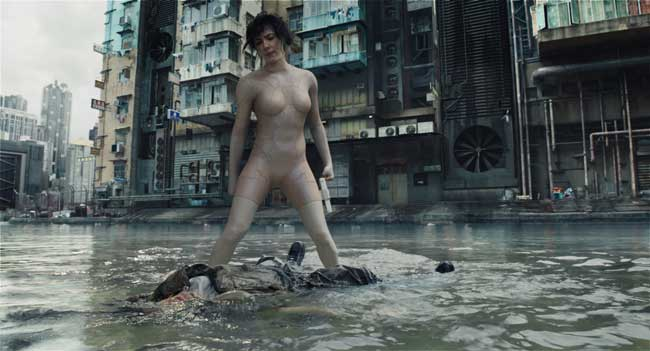 Scarlett Johansson in Ghost in the Shell (c) 2016 Paramount Pictures. All Rights Reserved.