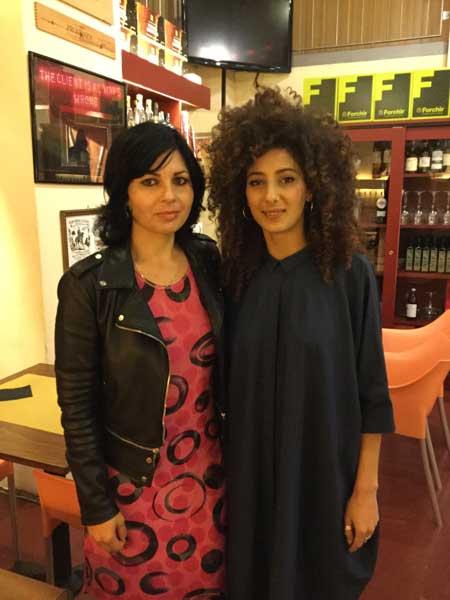 La regista Maysaloun Hamoud e l'attrice Mouna Hawa a Milano
