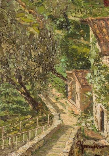 Le stanze svelate - Apollonio Pessina, Paesaggio (recto verso)