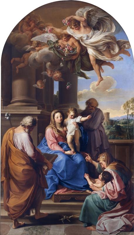 Quinto Dialogo. Attorno al Settecento. Pompeo Batoni e Milano. Madonna con il Bambino e i Santi Giuseppe e Zaccaria, Elisabetta e Giovannino