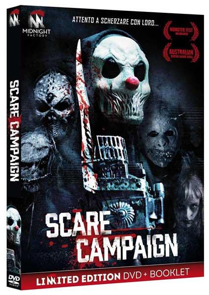 La cover del DVD del film Scare Campaign