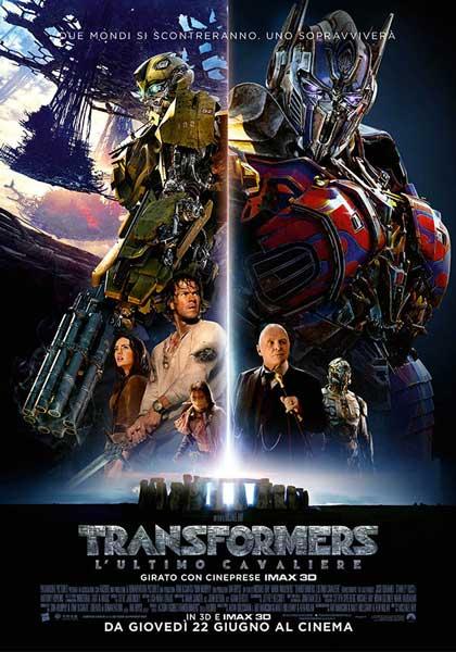 il poster italiano del film Transformers 5 L'ultimo Cavaliere