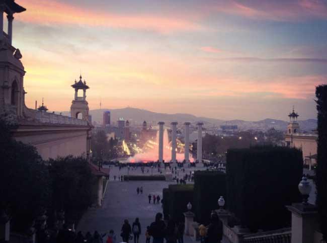 Barcellona, Montijuc al tramonto - Foto: Anna Falciasecca