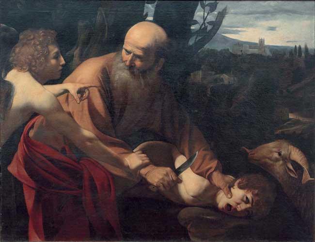 Dentro Caravaggio - Sacrificio di Isacco
