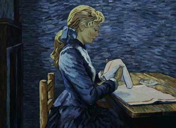 Loving Vincent - Adeline Ravoux (Eleanor-Tomlinson) folding napkins at the Ravoux Inn