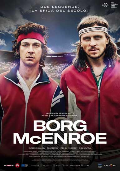 il poster italiano del film Borg McEnroe