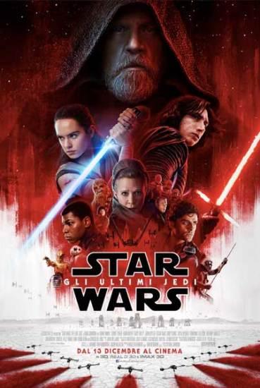 il poster italiano del film Star Wars: Gli Ultimi Jedi
