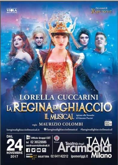 la locandina milanese del musical La Regina di Ghiaccio