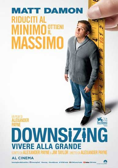la locandina italiana del film Downsizing
