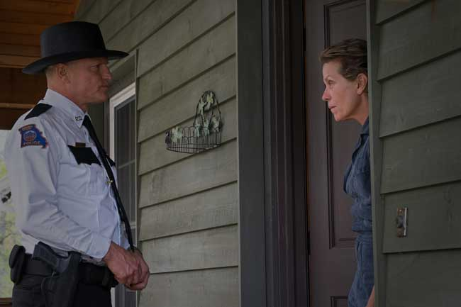 Woody Harrelson e Frances McDormand in Tre Manifesti a Ebbing, Missouri - Photo: courtesy of 20h century Fox Italia