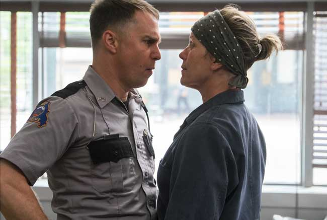 Sam Rockwell e Frances McDormand in Tre Manifesti a Ebbing, Missouri - Photo: courtesy of 20h century Fox Italia