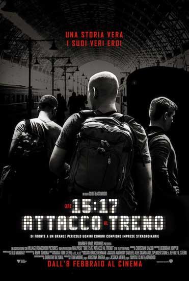 la locandina italiana del film Ore 15:17 - Attacco al Treno