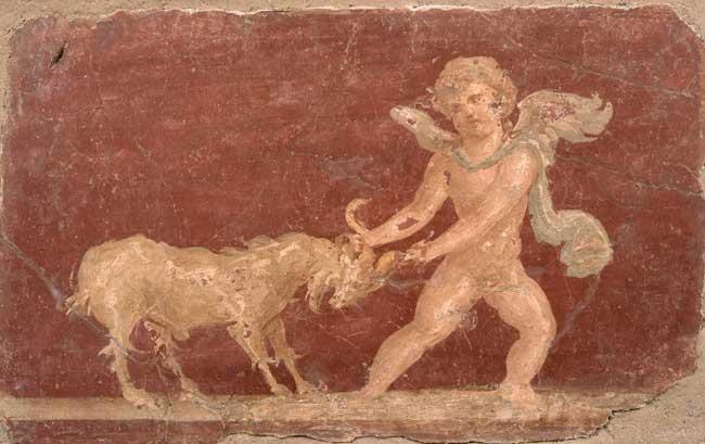 Ercolano e Pompei: Erote e caprone