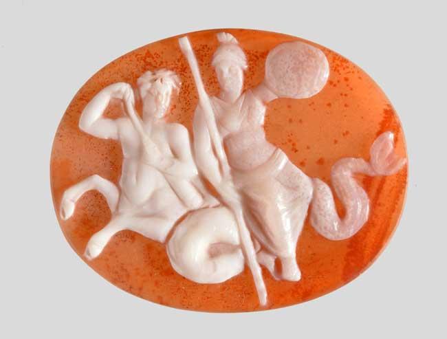 Ercolano e Pompei: Cammeo con ittiocentauro e dea