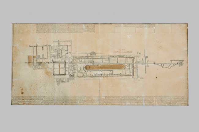 Ercolano e Pompei: Karl Jakob Weber, Planimetria della Villa dei Papiri