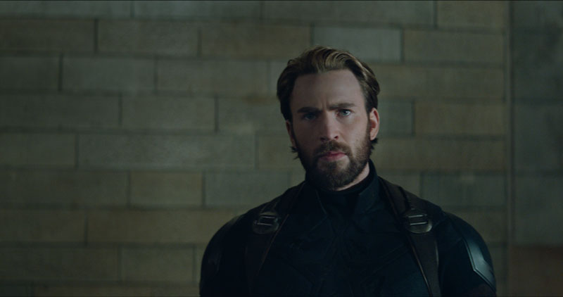 Chris Evans in una scena di Avengers: Infinity War - Photo: MARVEL STUDIOS