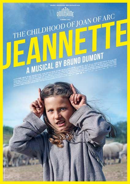 la locandina internazionale del film Jeannette di Bruno Dumont