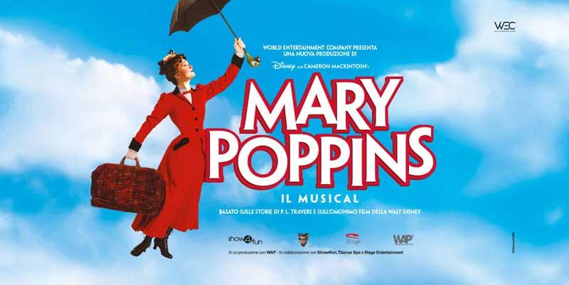 la locandina del musical Mary Poppins al Teatro Nazionale di Milano