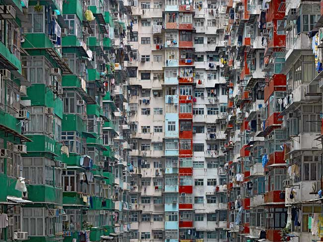 Architecture of Density, Hong Kong, 2003-2014 - photo by Michael Wolf
