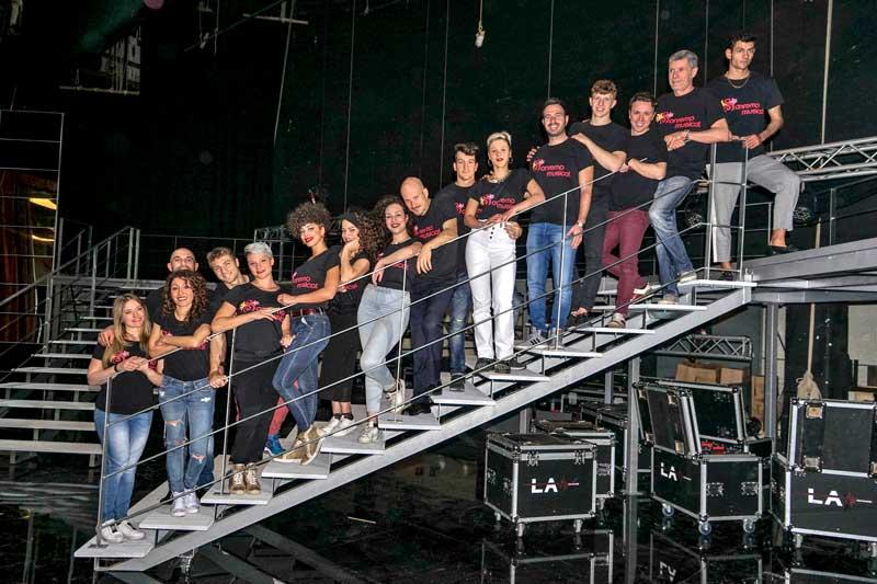 i ragazzi di Sanremo Musical al Teatro Nuovo di Milano - ph ufficio stampa