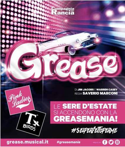 Grease il musical poster estate 2018