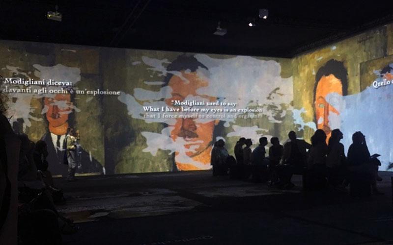 un momento della Modigliani Art Experience al MUDEC - Photo credit: MaSeDomani
