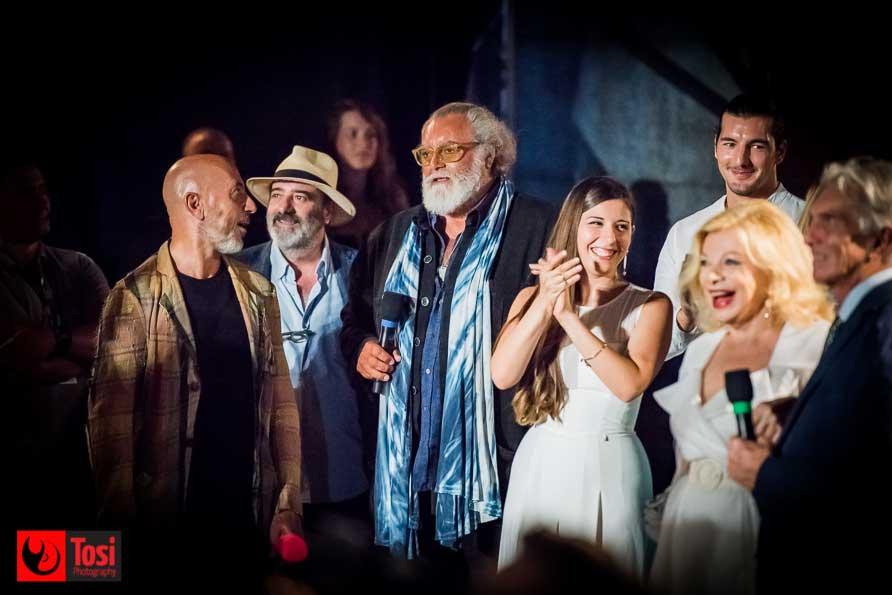 Diego Abatantuono, Sandra Milo e Marco Solari in Piazza Grande la sera del 7 agosto 2018 - Tosi Photography