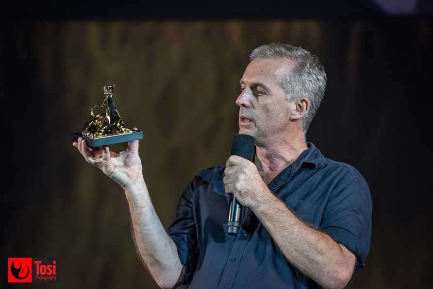 Bruno Dumont a Locarno 2018 col Pardo d'Onore Manor - Ph: Tosi Photography