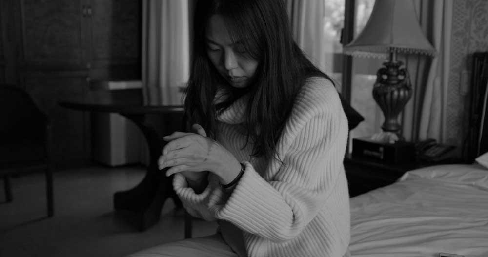 l'attrice KIM Minhee in una scena del film Hotel by the River - Photo: courtesy of Locarno Festival