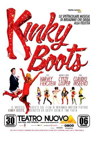 la locandina dello spettacolo Kinky Boots a Milano
