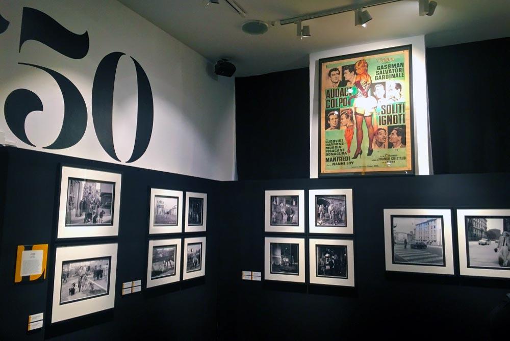 L'allestimento della mostra Milano e il Cinema:la sala dedicata agli Anni Cinquanta - Photo: MaSeDomani