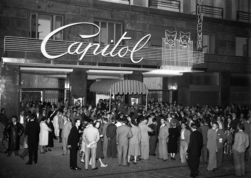 Milano e il Cinema - Cinema Capitol (Cinema Capitol via Croce Rossa, anni '50
