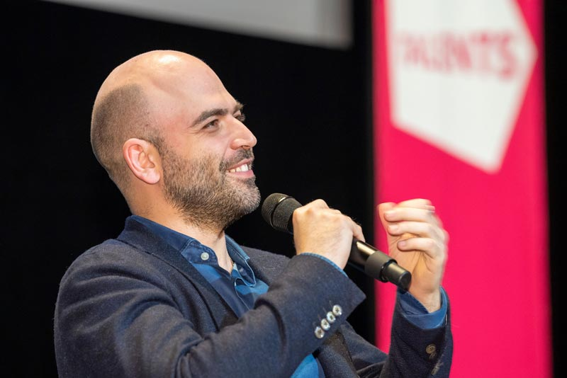 Roberto Saviano at the talk In the Aftermath: Saviano's Writings (c) Bettina Ausserhofer, Berlinale 2019