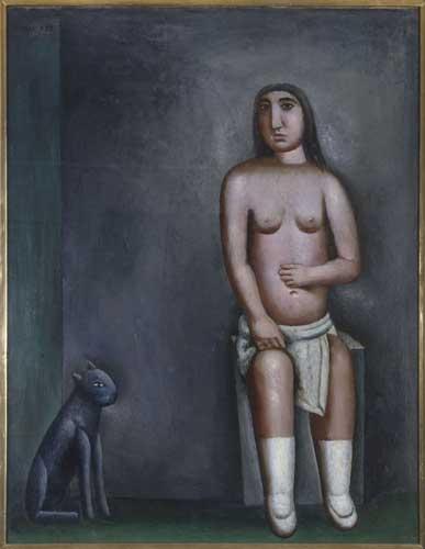 Carlo Carrà, La casa dell'amore, 1922, olio su tela, cm 90x70 cm, Collezione Jesi, Pinacoteca di Brera, Milano