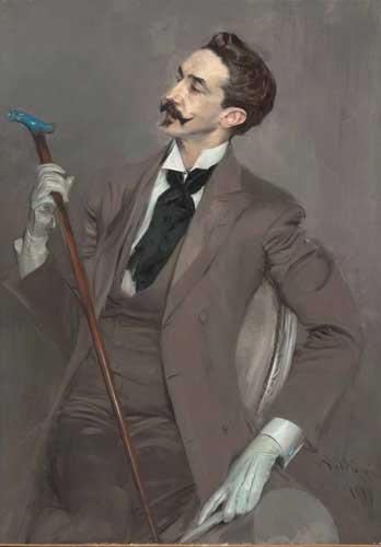 Giovanni Boldini, Il conte Robert de Montesquiou-Fézensac, 1897. Olio su tela, cm 115,5 x 82,5. Parigi, Musée d'Orsay. Dono di Henri Pinard a nome del conte Robert de Montesquiou, 1922