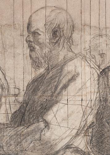 Raffaello, Scuola di Atene (particolare: Socrate) in Ambrosiana dal 1610 (c) Veneranda Biblioteca Ambrosiana, Mondadori Portfolio