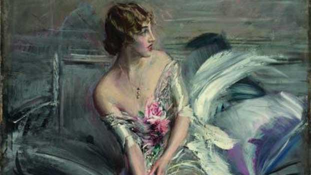 Giovanni Boldini, Gladys Deacon, 1916, Olio su tela, Collezione privata (dettaglio)