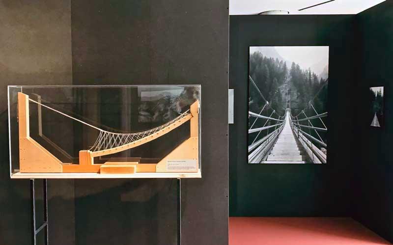 Uno scorcio dell'allestimento della mostra Landscape and Structures al Teatro dell'architettura di Mendrisio - Photo: MaSeDomani