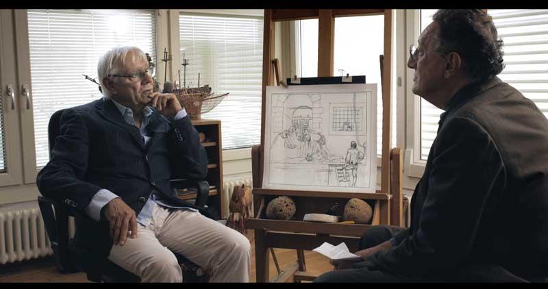 Milo Manara e Sandro Lombardi nel documentario Dentro Caravaggio - Photo: courtesy of Nexo Digital
