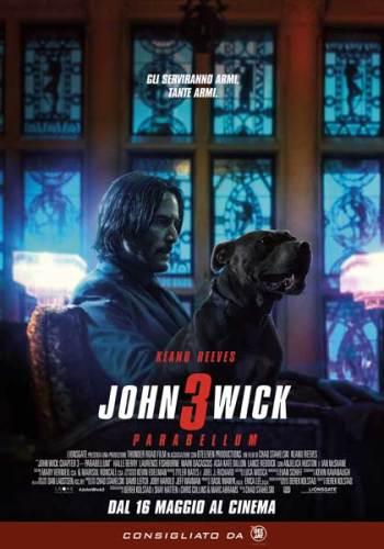 La locandina italiana del film John Wick 3 Parabellum