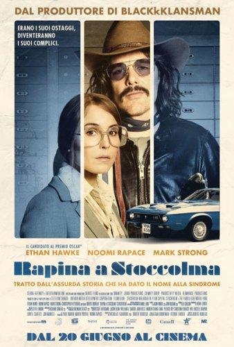 La locandina italiana del film Rapina a Stoccolma