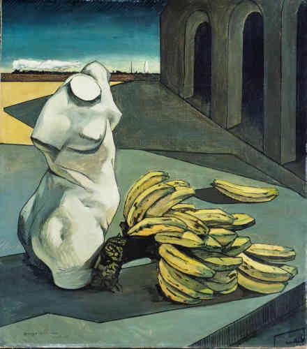 Giorgio de Chirico, L'incertezza del poeta, 1913. Olio su tela, 106 x 94 cm. Londra, Tate Modern. ©Tate, London 2018. © Giorgio de Chirico by SIAE 2019