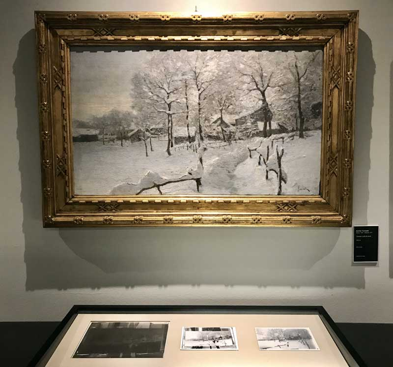 Achille Tominetti, Casolari sotto la neve (1900 ca) – Photo: MaSeDomani