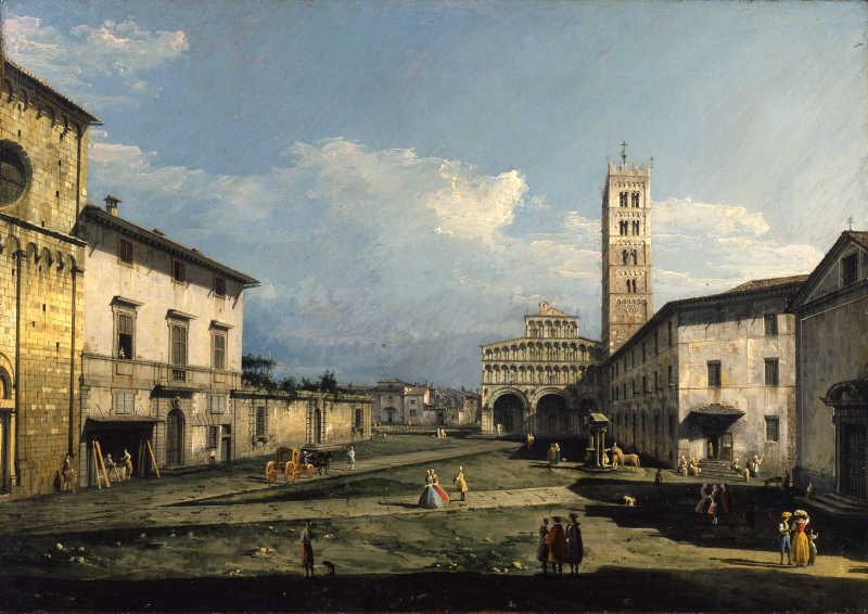 Bernardo Bellotto, Piazza San Martino con la cattedrale, Lucca, 1740, York, City Art Gallery