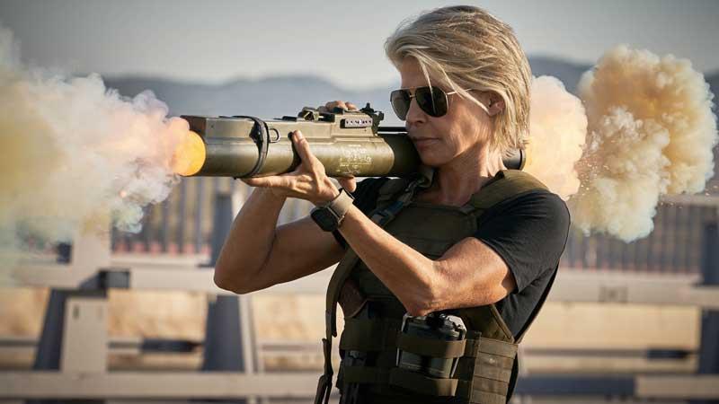 Linda Hamilton in una scena del film Terminator -Destino Oscuro. Photo: 20th Century Fox