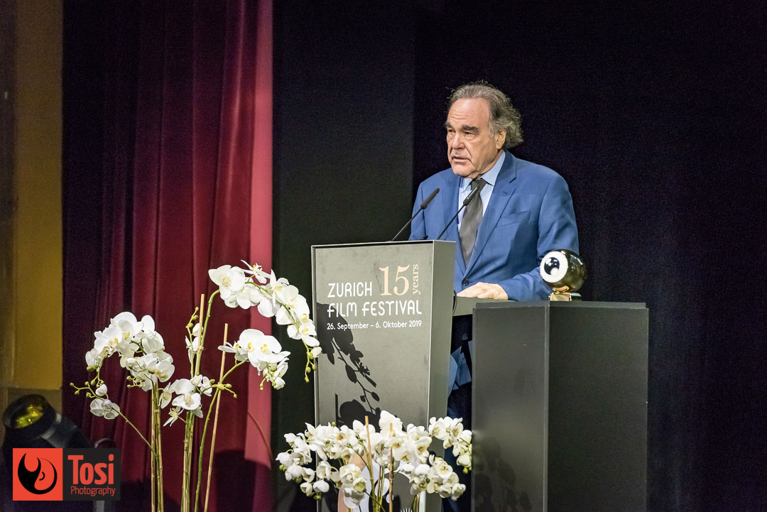 ZFF2019 Award Night - Oliver Stone, president of the jury - Photo by Tosi Photography